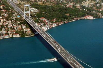 Fatih Sultan Mehmet Köprüsü Türkiye) 1,090 m - 1988