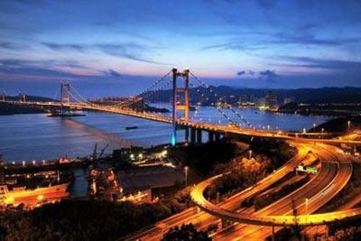 Tsing Ma Köprüsü (Hong Kong) 1,377 m - 1997 (metro ve karayolu)