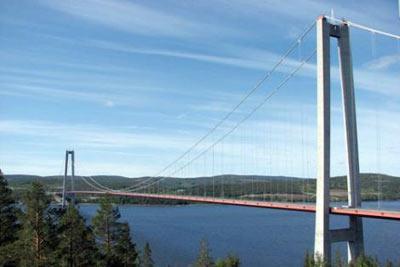 Höga Kusten Köprüsü (İsveç) - 1,210 m - 1997