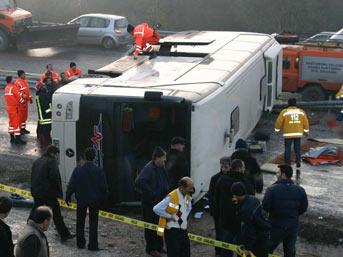Kastamonu'da otobüs kazası: 3 ölü