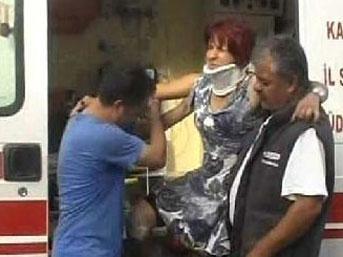 Kayseri'de yolcu otobüsü kaza yaptı