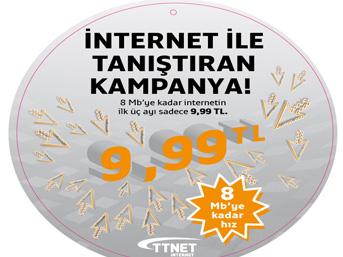 TTNET'ten 9.99 TL'ye hızlı internet