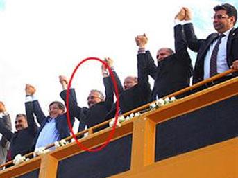 davutoglu chp - CHP'li başkan AK Parti mitinginde