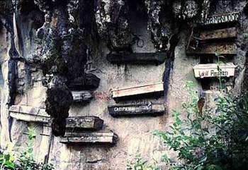 Sagada mezarlığı / Sagada, Filipinler :