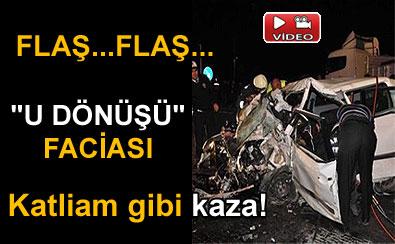 Adapazarı'nda trafik kazası 5 ölü video izle