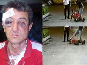 Polis memuru, pompacıyı hastanelik etti