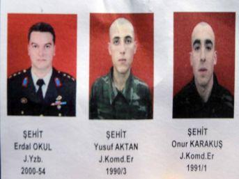 Beytüşşebap'ta şehit olan 3 askerin ismi belirlendi